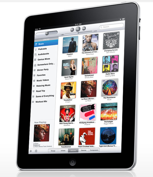 apple ipad with applications